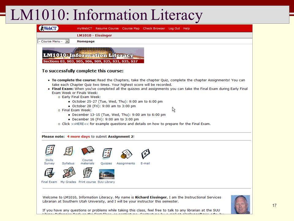17 LM1010: Information Literacy