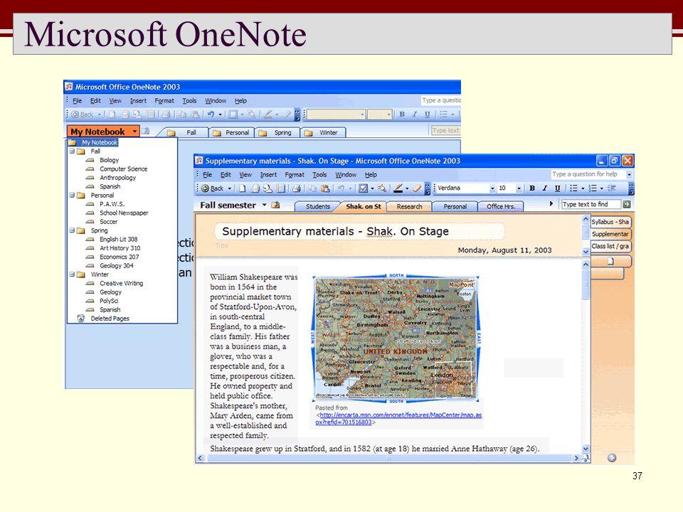 37 Microsoft OneNote