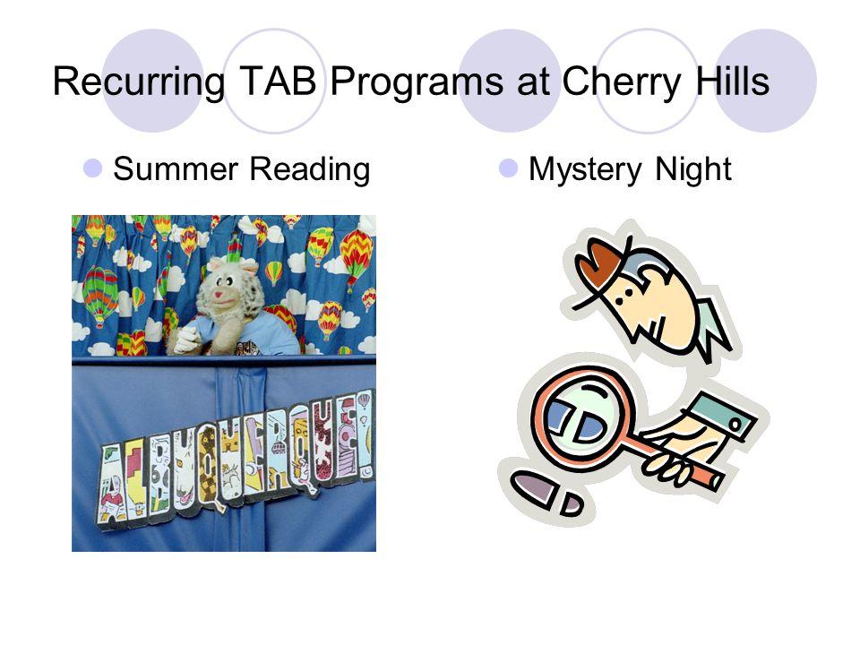 Recurring TAB Programs at Cherry Hills Summer Reading Mystery Night