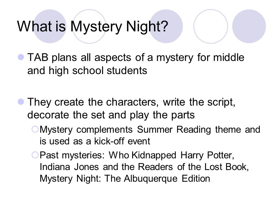 What is Mystery Night.
