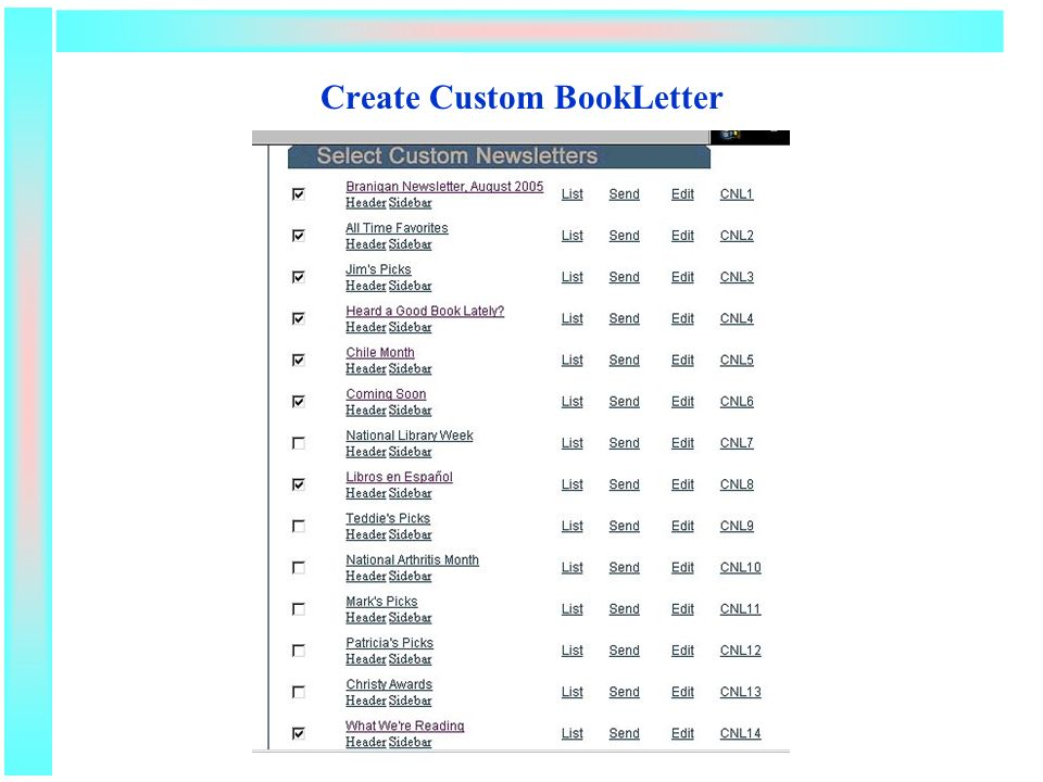 Create Custom BookLetter