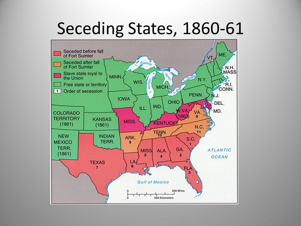 Seceding States, 1860-61