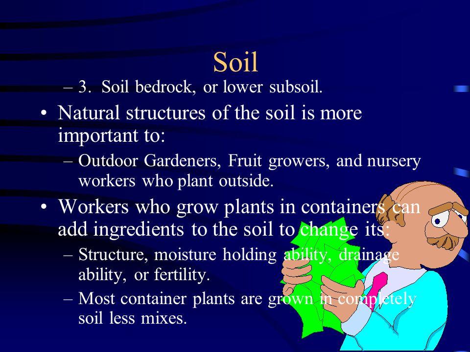 7 Soil –3.Soil bedrock, or lower subsoil.