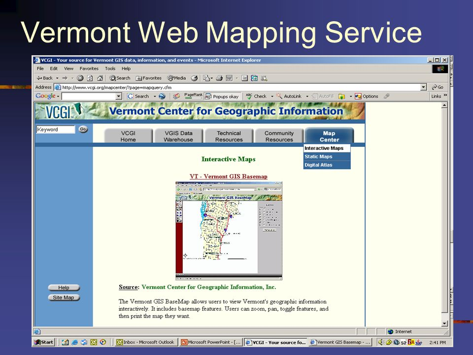 Vermont Web Mapping Service