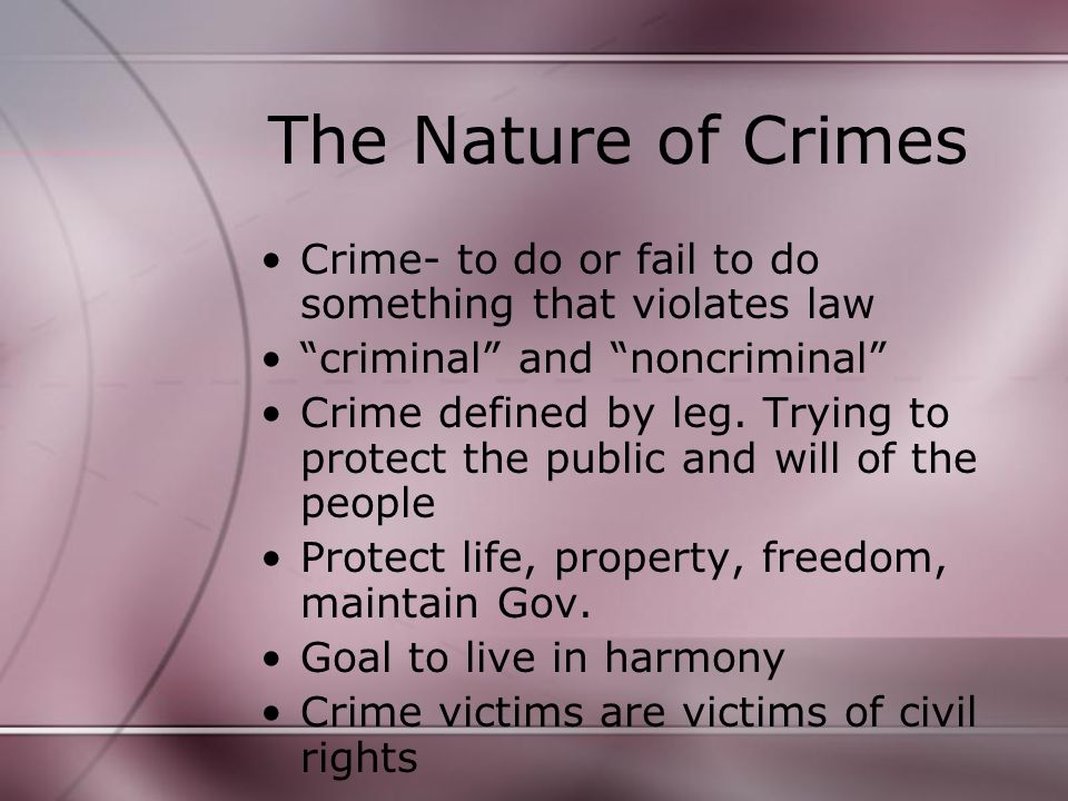 Crime Look at crime index on p.