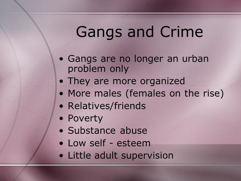 Solving the gang problem 1.Outreach programs 2. More opportunities for young 3.