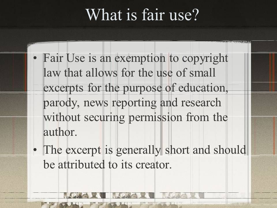What is public domain.Works that are not owned by anyone and not protected by copyright law.