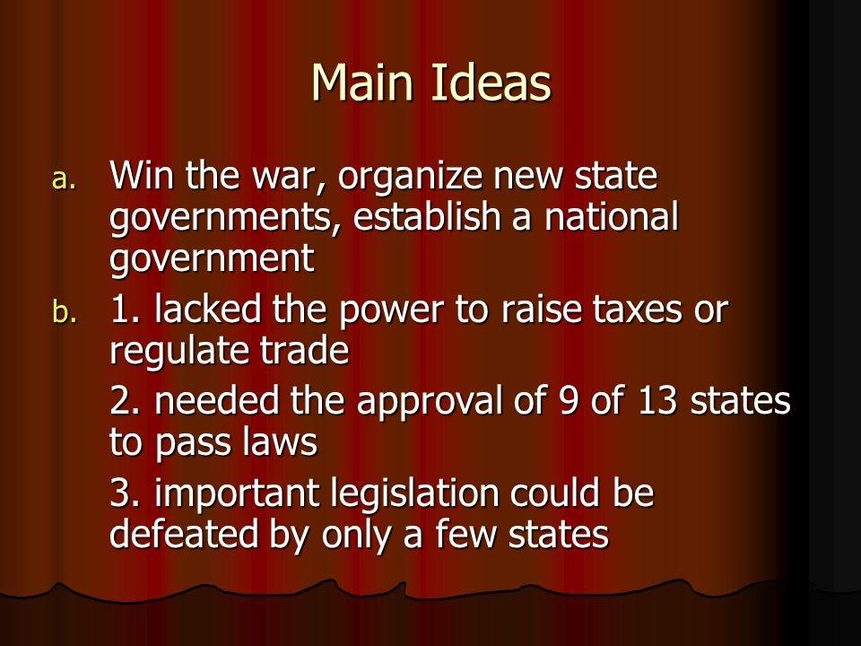 Main Ideas Cont.c.