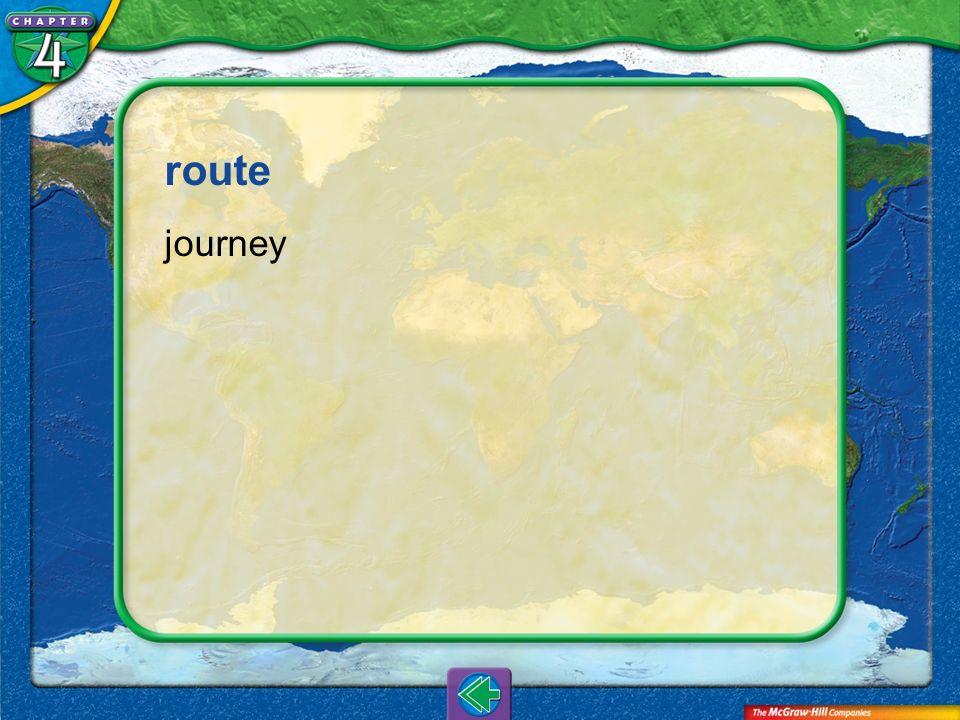 Vocab10 route journey