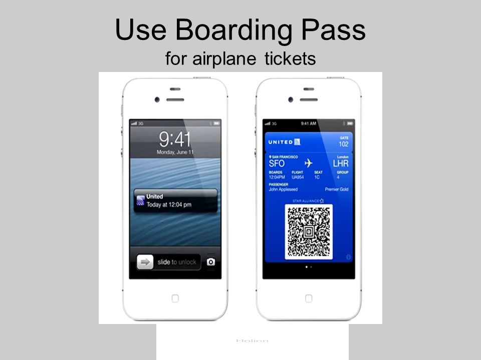 Use Boarding Pass for airplane tickets