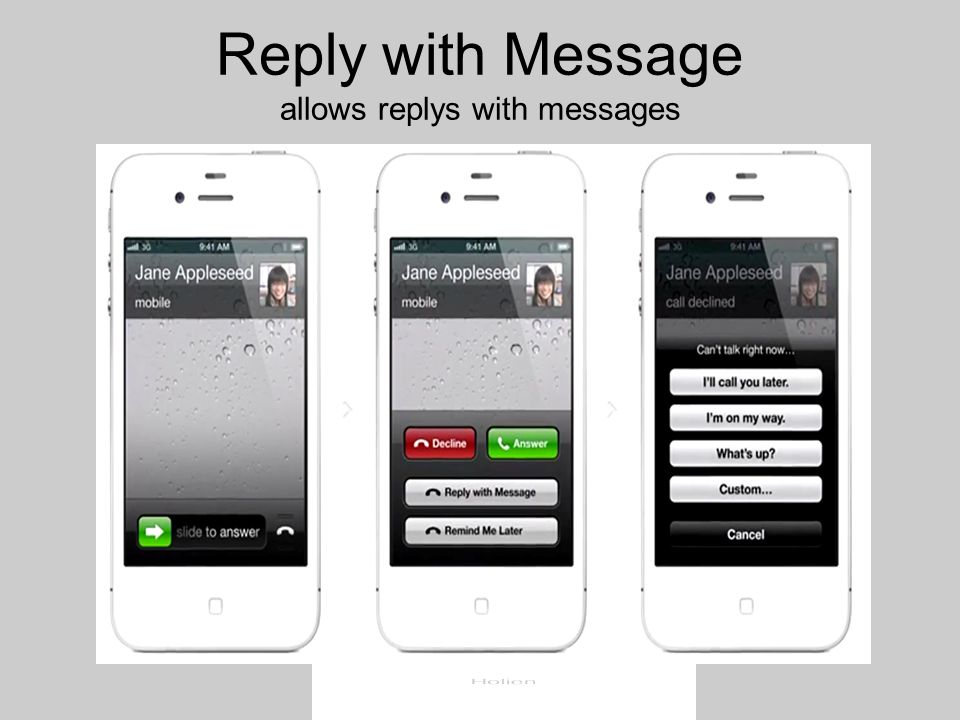 Reply with Message allows replys with messages