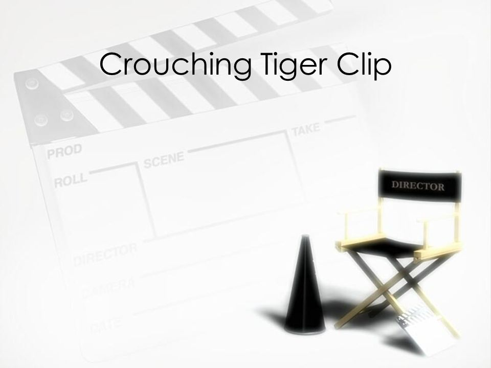 Crouching Tiger Clip