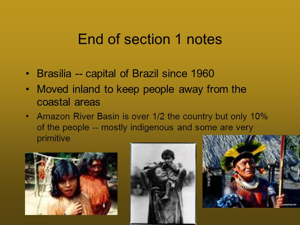 SECTION 2 -- Brazils Quest For Economic Growth Unequal distribution of wealth -- small % control the plantations and therefore the wealth In 1940 the Brazil Government starts 2 programs 1.