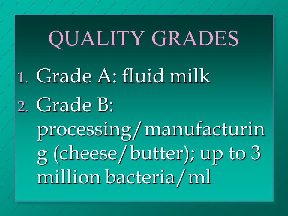 MAJOR PRODUCTS 1.fluid milk: whole milk, 2%, 1%, nonfat milk (less than.5% fat), chocolate milk.