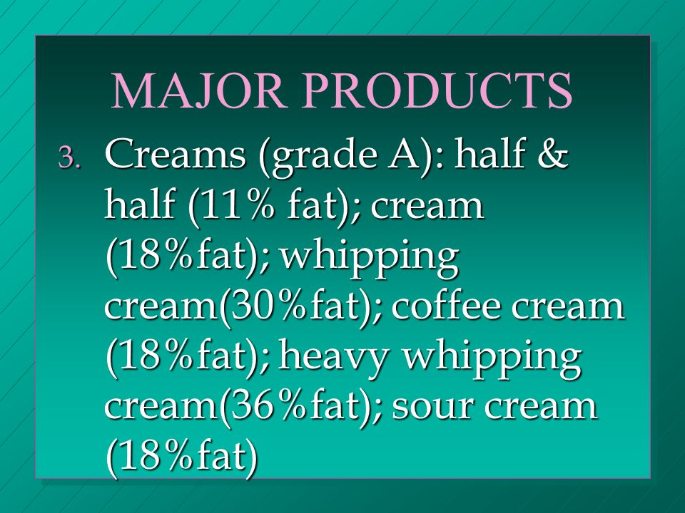 MAJOR PRODUCTS 4.Butter 5.