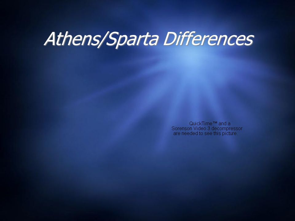 Athens/Sparta Differences