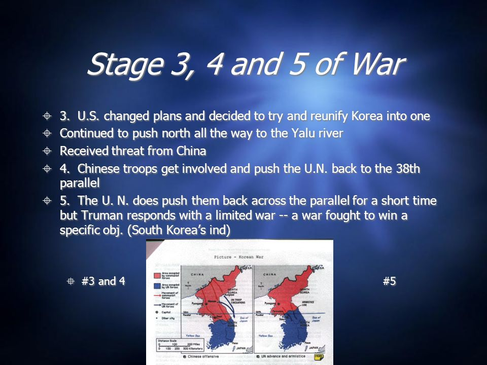 Stage 3, 4 and 5 of War 3.U.S.