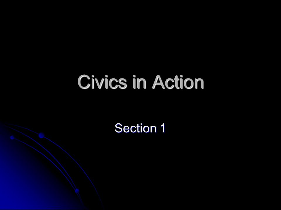 Civics in Action Section 1