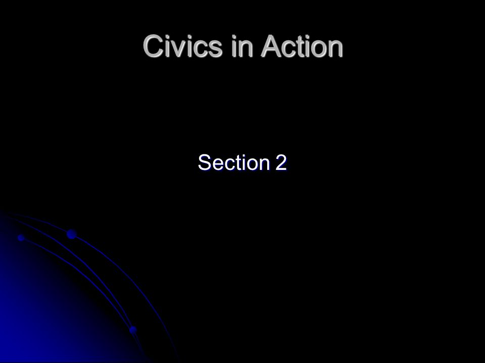 Civics in Action Section 2