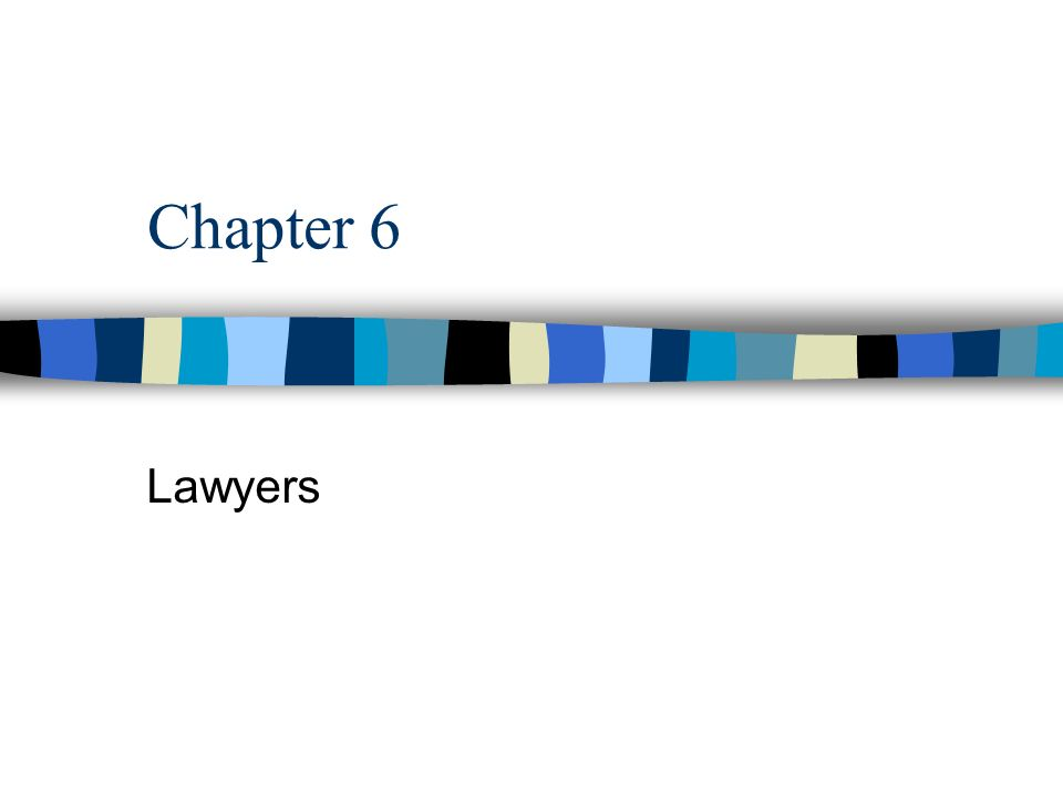 Chapter 6 Lawyers