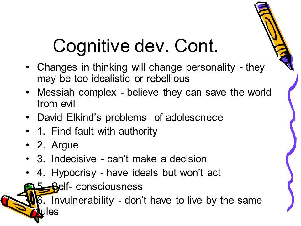Cognitive dev. Cont.