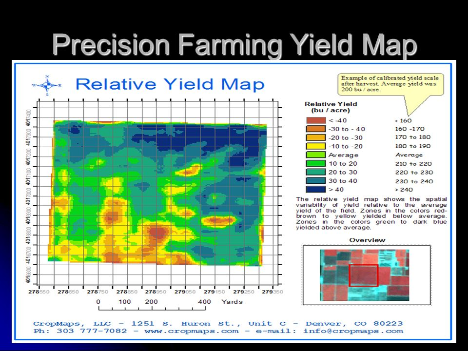 Precision Farming Yield Map