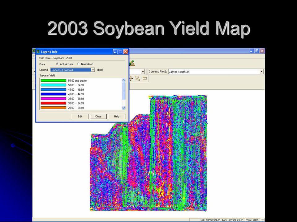 2003 Soybean Yield Map