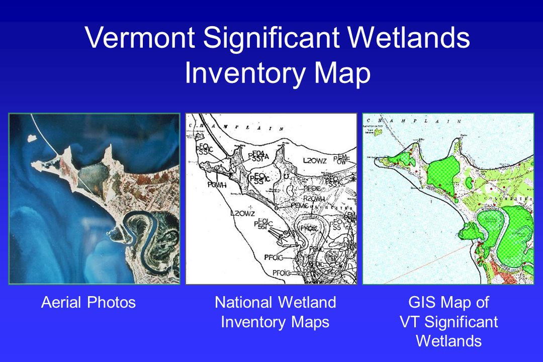 Aerial PhotosNational Wetland Inventory Maps GIS Map of VT Significant Wetlands Vermont Significant Wetlands Inventory Map