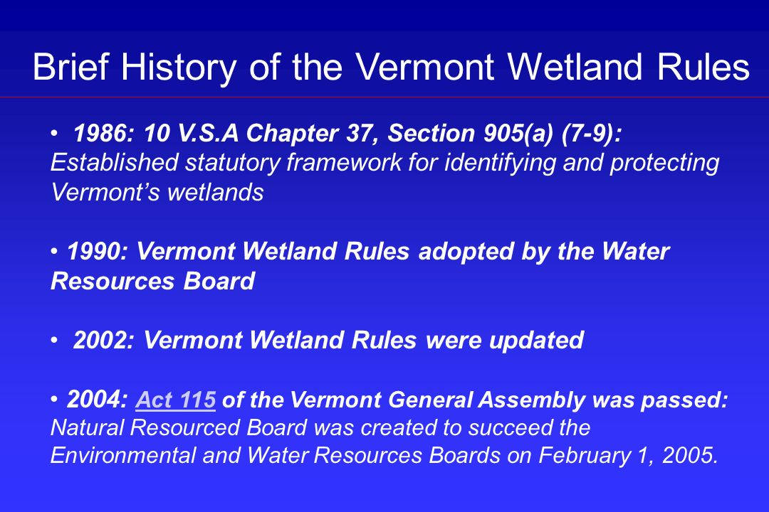 (2) A wetland is divided by a man-made structure (e.g.
