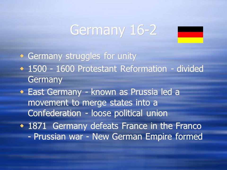 Germany WWI Germany was a part of the Triple Alliance - defeated in 1918 Treaty of Versailles - ended WWI, made Germany pay reparations, and Germany took the blame for the war Inflation and eventual depression caused Adolf Hitler to come to power WWII 1939 - 1945 WWI Germany was a part of the Triple Alliance - defeated in 1918 Treaty of Versailles - ended WWI, made Germany pay reparations, and Germany took the blame for the war Inflation and eventual depression caused Adolf Hitler to come to power WWII 1939 - 1945