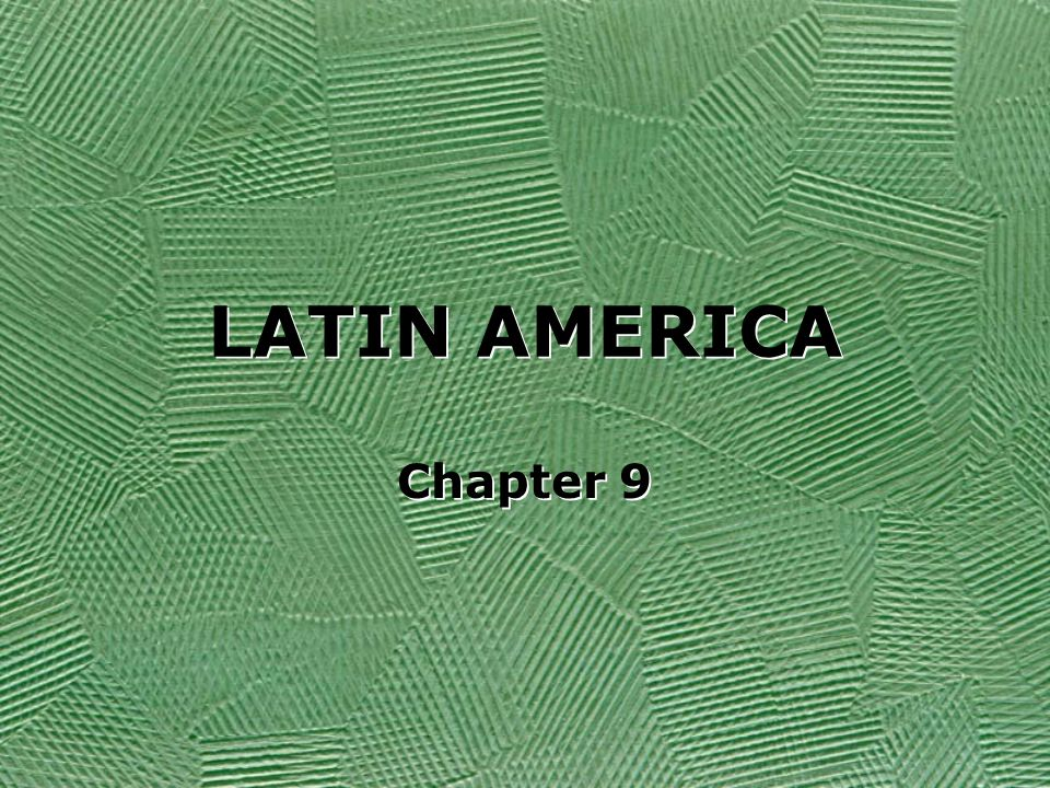Latin America Includes the following: Mexico Central America (7) Caribbean nations South America Includes the following: Mexico Central America (7) Caribbean nations South America