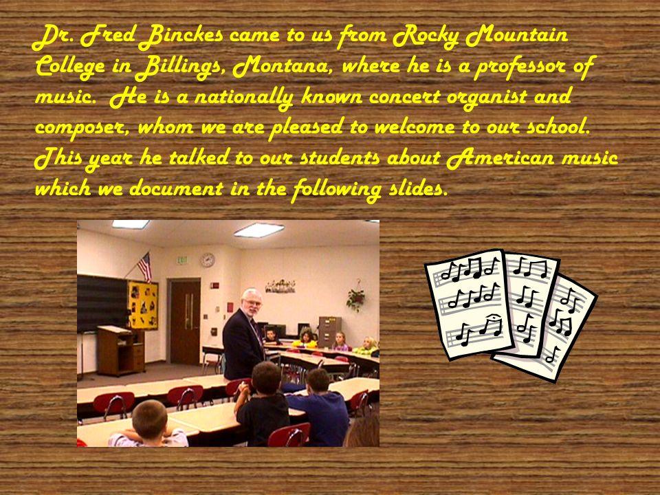 Dr. Fred Binckes Visits Joan Martin School