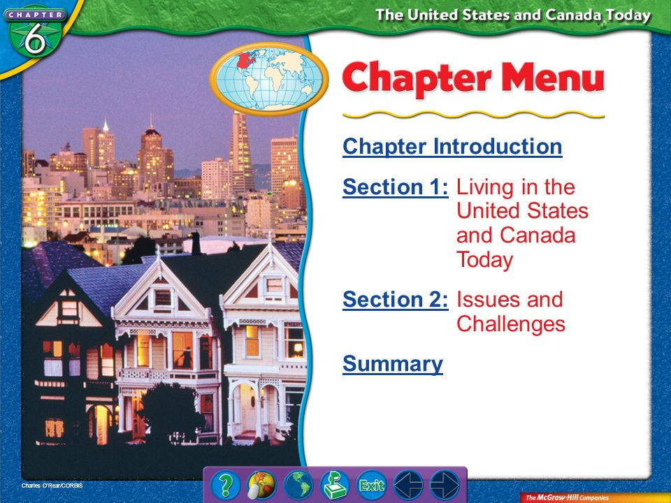 Chapter Intro 1 Regions The United States and Canada both have large land areas.