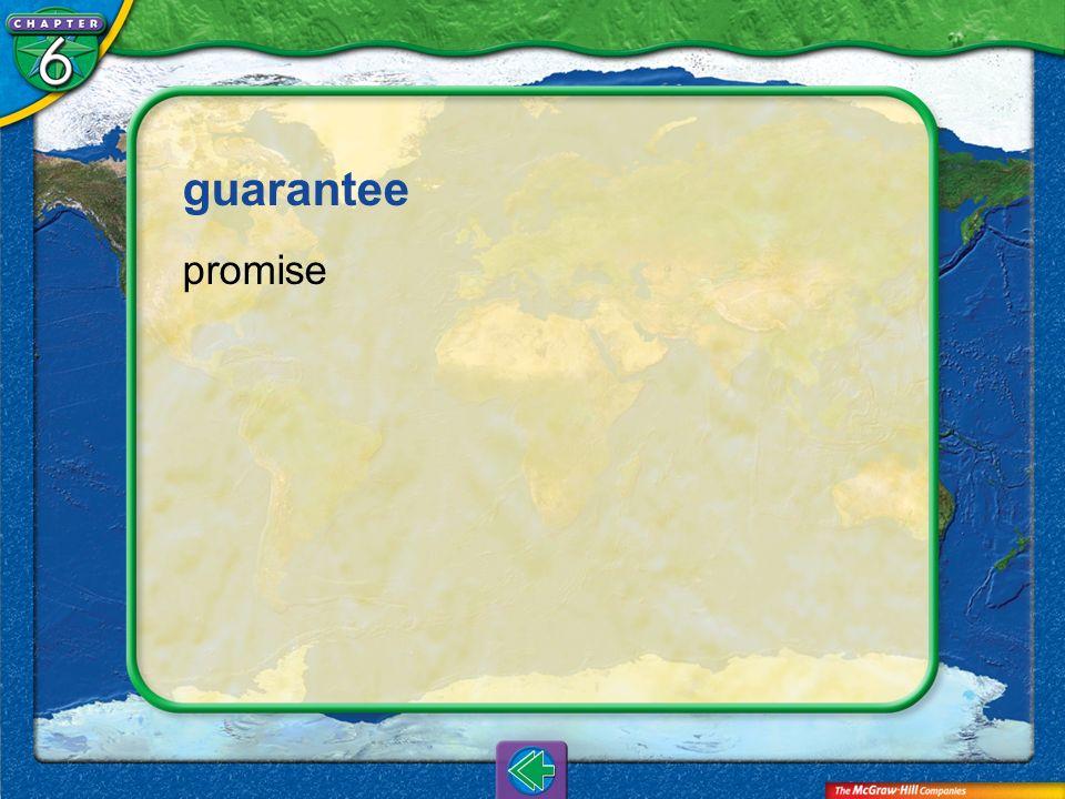 Vocab6 guarantee promise