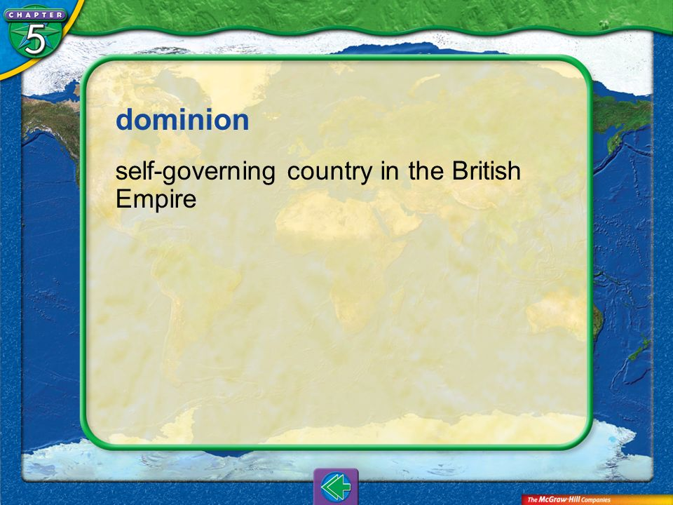 Vocab4 dominion self-governing country in the British Empire