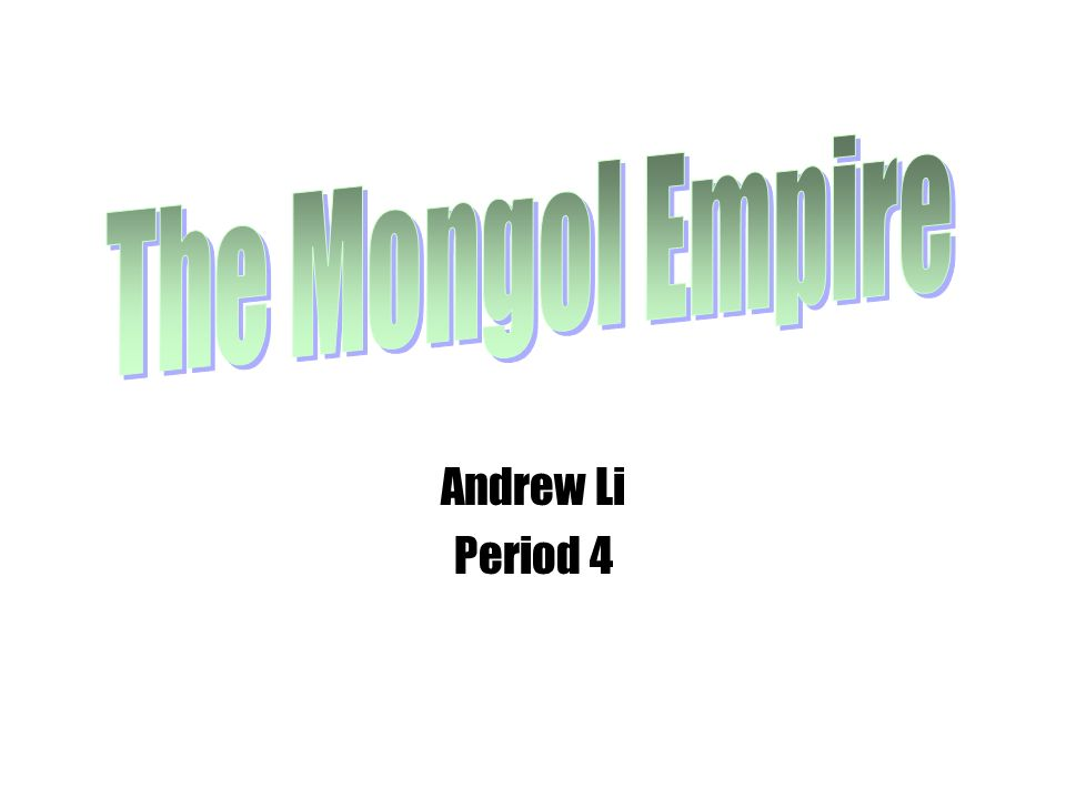 Andrew Li Period 4