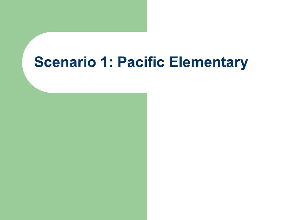 Scenario 1: Pacific Elementary
