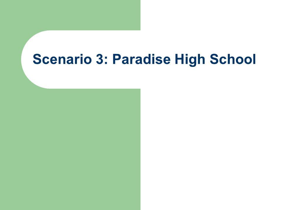 Scenario 3: Paradise High School