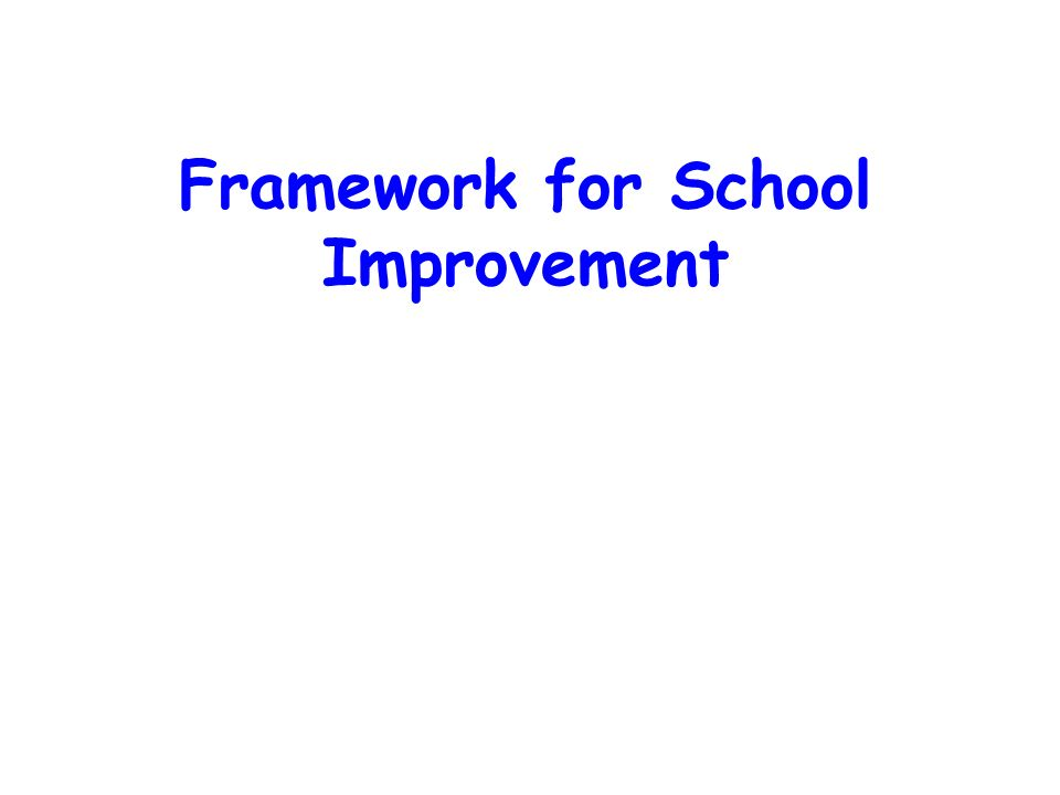 Framework for School Improvement