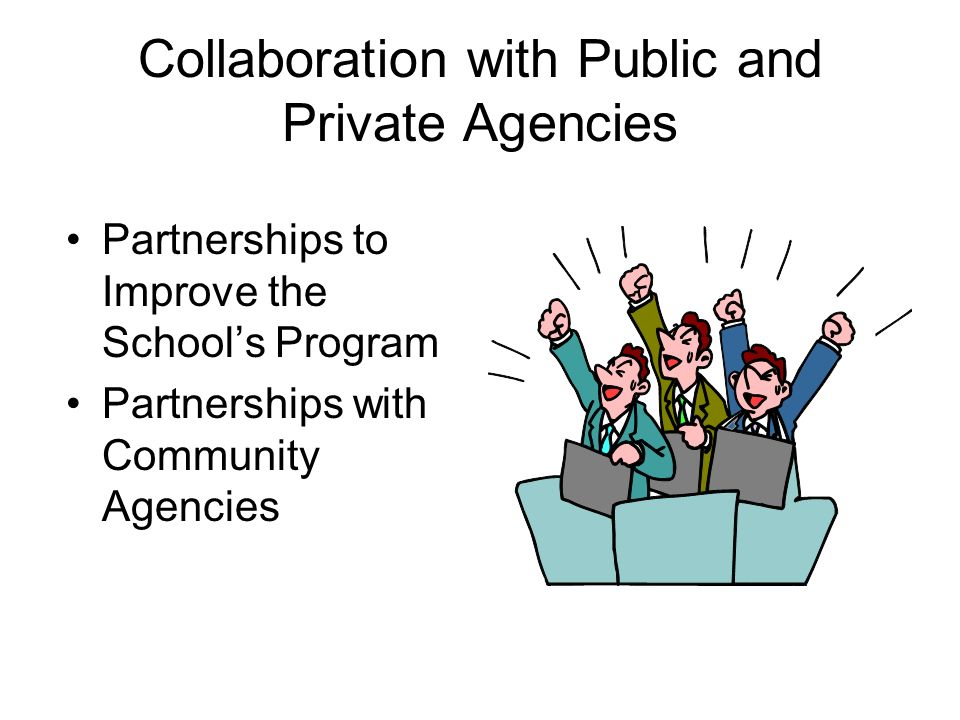 Collaboration with Public and Private Agencies Partnerships to Improve the Schools Program Partnerships with Community Agencies