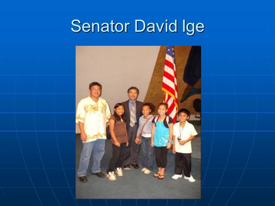 Senator David Ige