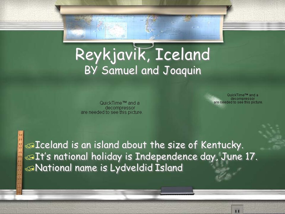 Reykjavik, Iceland BY Samuel and Joaquin / Iceland is an island about the size of Kentucky.