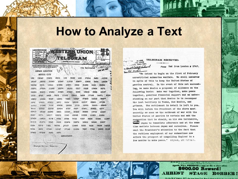 How to Analyze a Text