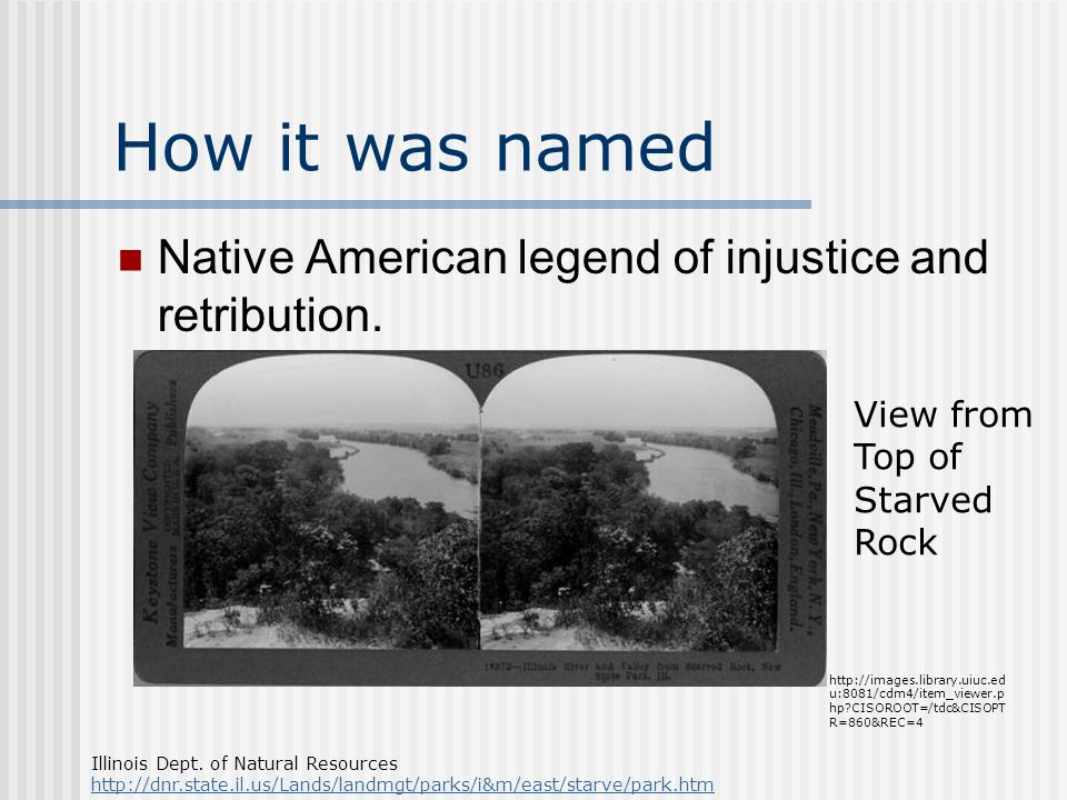 How it was named Native American legend of injustice and retribution.