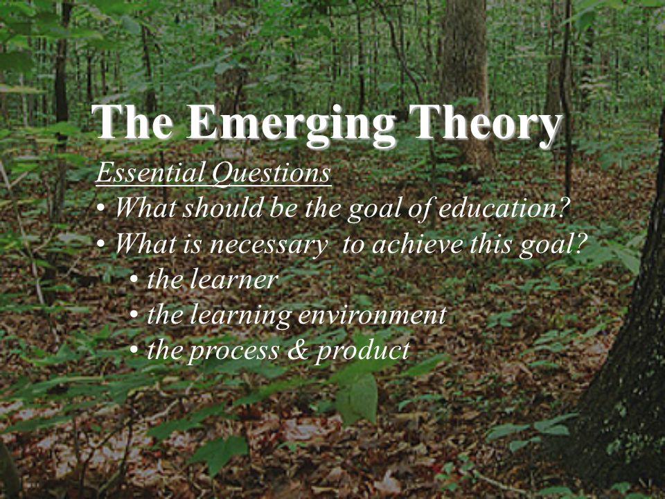 Curriculum, good curriculum, is like a forest.