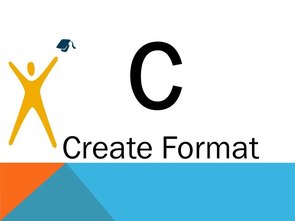 C Create Format