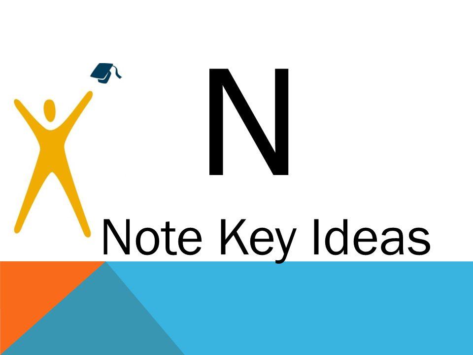 N Note Key Ideas