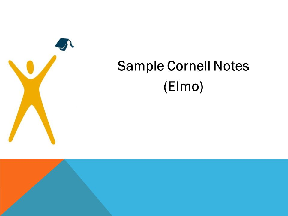 Sample Cornell Notes (Elmo)