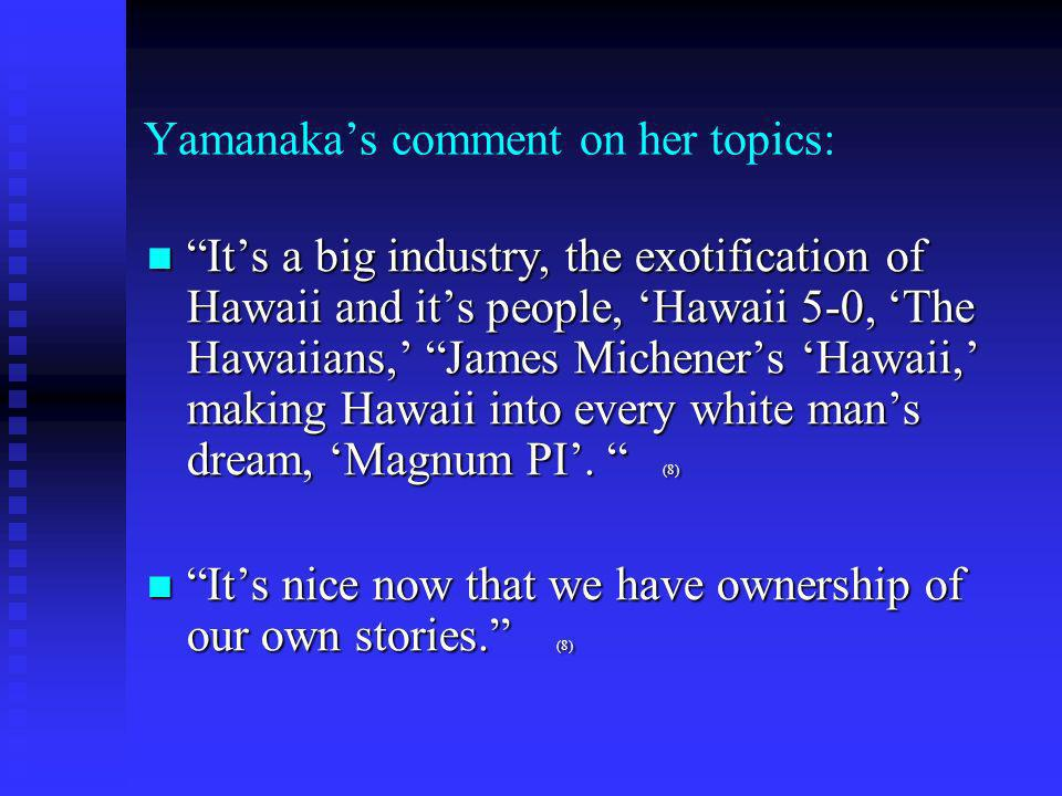 Yamanakas comment on her topics: You gotta start right where theyre (readers) are at.
