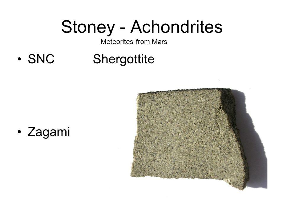 Stoney - Achondrites SNC Shergottite Zagami Meteorites from Mars